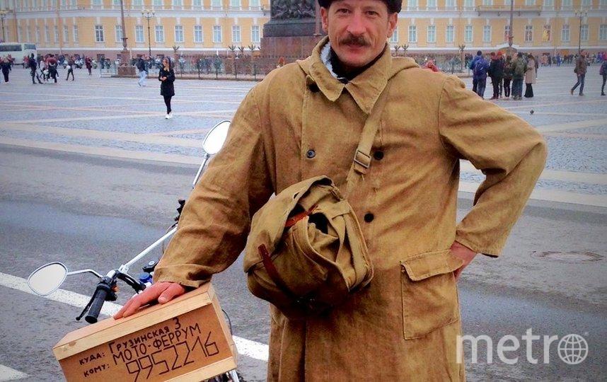 """Петербургский """"Печкин"""" свёл с ума Интернет и Дворцовую. Фото vk.com/turobel, """"Metro"""""""
