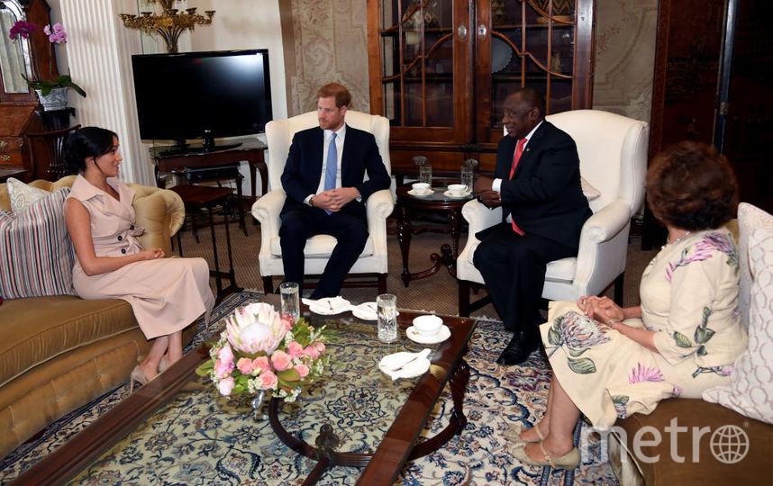 Меган Маркл и принц Гарри на встрече с президентом ЮАР. Фото Getty