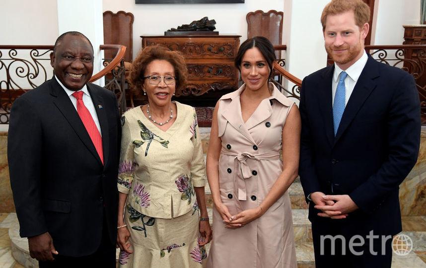 Меган Маркл и принц Гарри на встрече с президентом ЮАР и его женой. Фото Getty