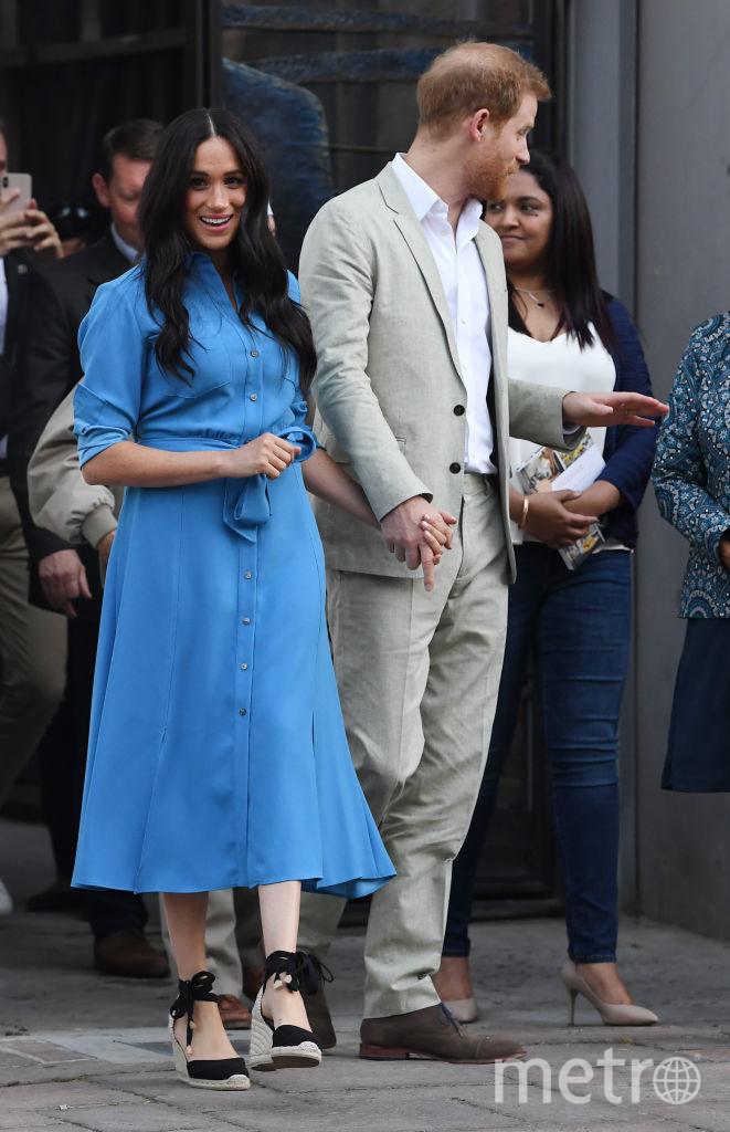 Veronica Beard 'Cary' Dress, £525. Это платье Меган надевала раньше! Фото Getty