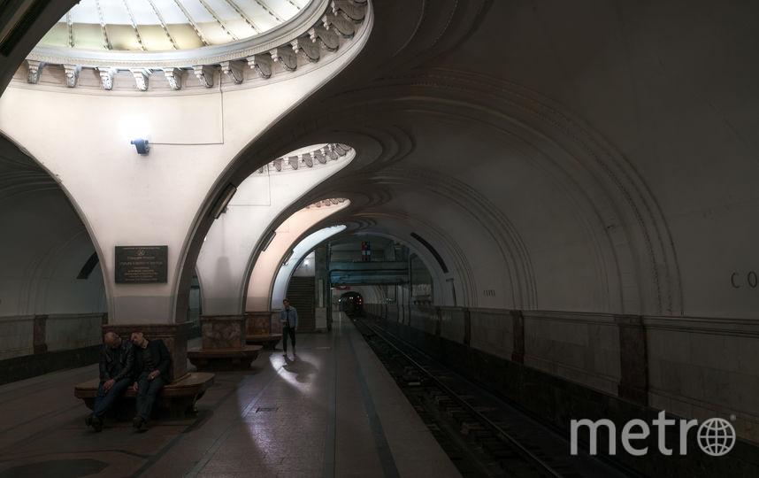 """Станция """"Сокол"""" в Москве. Фото Christopher Herwig / herwigphoto.com"""