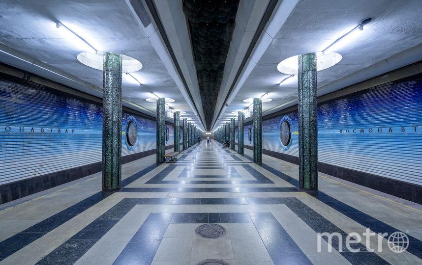 "Станция ""Космонавтлар"" в Ташкенте. Фото Christopher Herwig / herwigphoto.com"