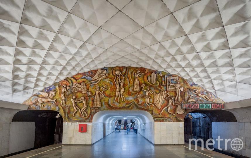 """Станция """"Технический Университет"""" в Тбилиси. Фото Christopher Herwig / herwigphoto.com"""