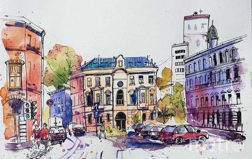 Лялина площадь. Фото скриншот @stories_sketch