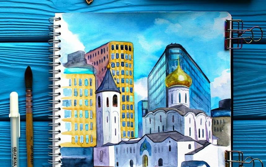 "Белая площадь около станции метро ""Белорусская"". Фото скриншот @handmade_fox_tai"