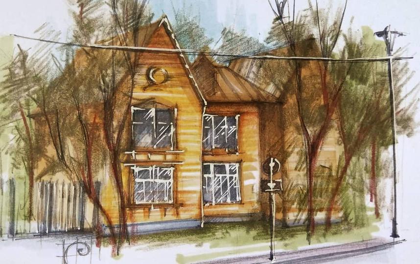 Деревянный домик недалеко от Тимирязевской академии. Фото скриншот @lankasm