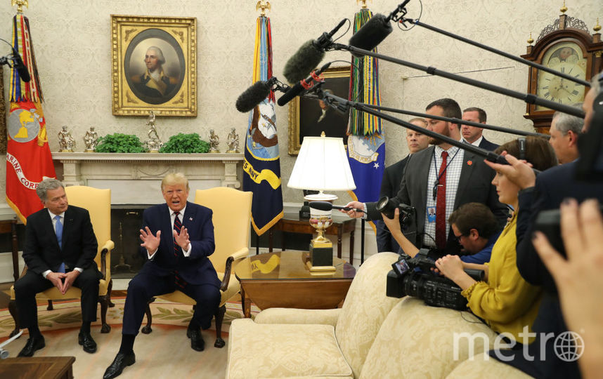 Встреча президентов США и Финляндии в Вашингтоне 2 октября. Фото Getty