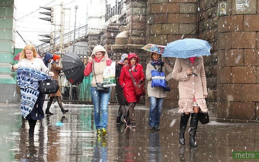 что 6 октября в столице дождь, переходящий в мокрый снег, сохранится до вечера. Фото Василий Кузьмичёнок