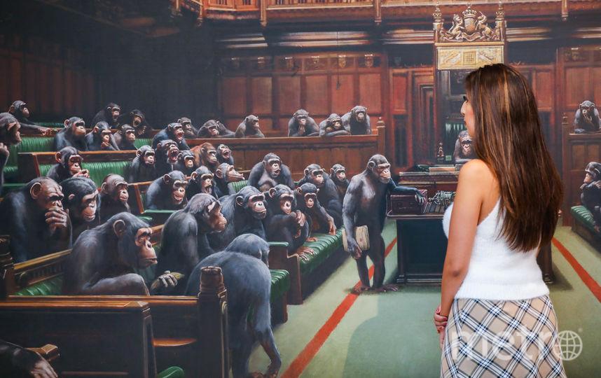 Картина Бэнкси Devolved Parliament. Фото Getty