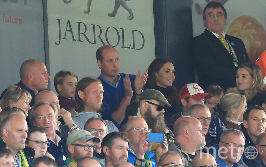 Кейт Миддлтон и принц Уильям на матче. Фото Getty