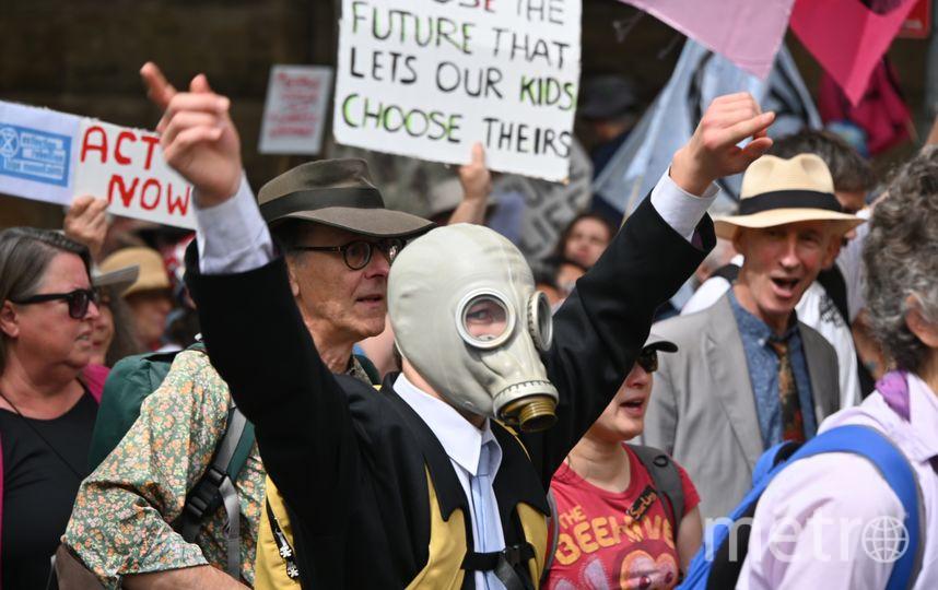 Акция Extinction Rebellion в Сиднее. Фото AFP