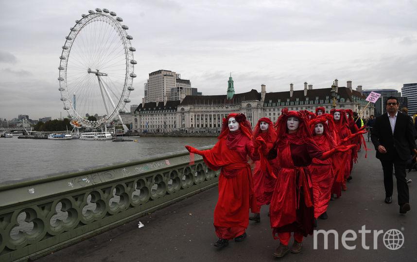Активисты Extinction Rebellion в Лондоне. Фото Getty