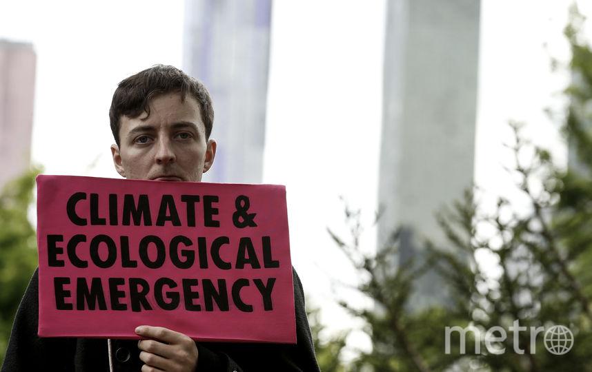 Активист Extinction Rebellion в Мельбурне. Фото Getty