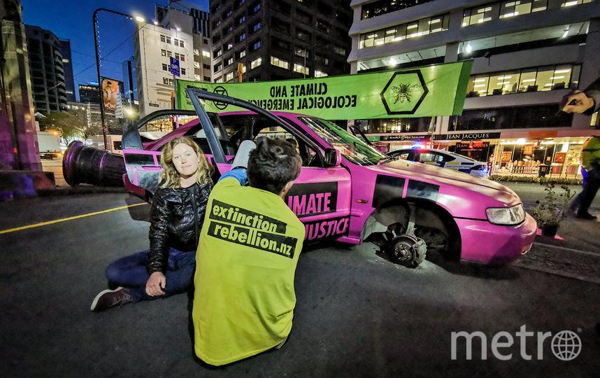 Активисты в Веллингтоне. Фото AFP