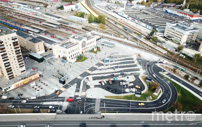 """С квадрокоптера отлично видно, что площадь теперь свободная и аккуратная. Фото АГН """"Москва"""""""