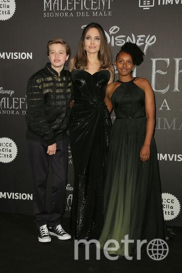 Анджелина Джоли с дочерьми. Фото Getty