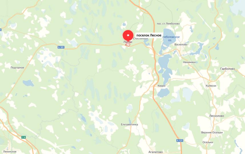 """Авария произошла во Всеволожском районе. Фото яндекс.карты., """"Metro"""""""
