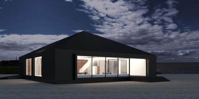 Одноэтажное строение без малейшего намёка на архитектурное украшательство.