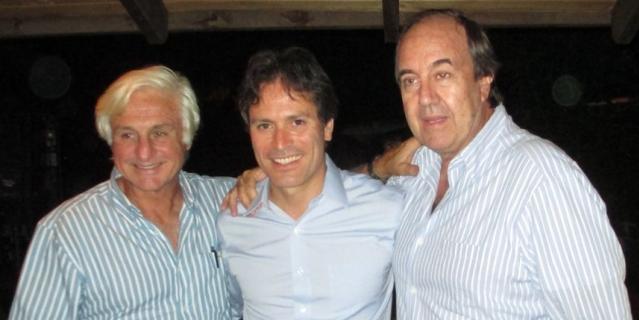 Роберто Канесса (слева), Рикардо Пена и Нандо Паррадо.