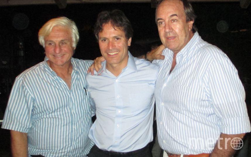 "Роберто Канесса (слева), Рикардо Пена и Нандо Паррадо. Фото предоставил Рикардо Пена, ""Metro"""