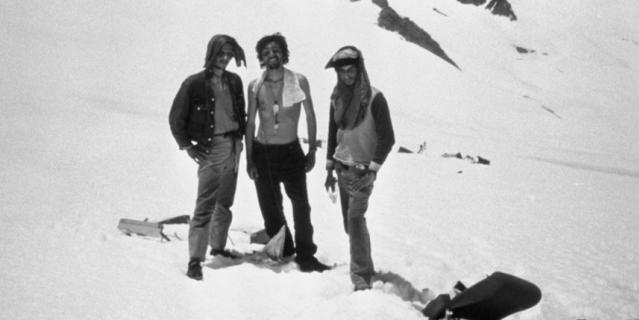 Хосе Педро Альгорта (слева), Карлос Паэс и Густаво Зербино.