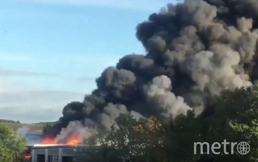 В Австрии на предприятии по утилизации мусора около аэропорта в австрийской коммуне Хершинг прогремел взрыв. Фото скриншот https://www.youtube.com/watch?v=HmLVoXJOsoY, Скриншот Youtube