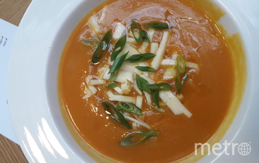 """Тыквенный суп в """"Хачапури"""". Фото Мария Позина, """"Metro"""""""