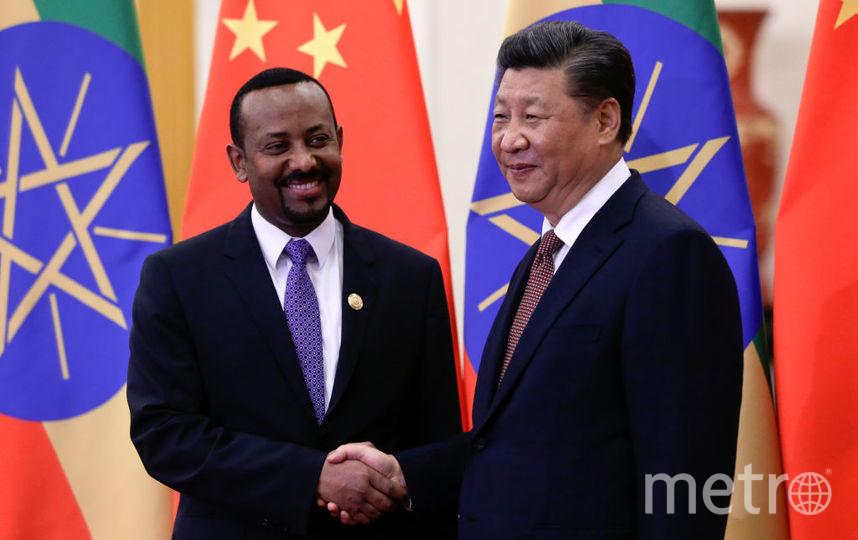 Абий Ахмед с главой КНР. Фото архив, Getty