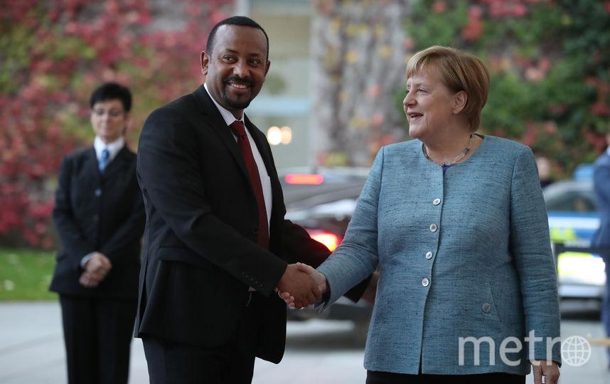 Абий Ахмед и Ангела Меркель. Фото архив, Getty