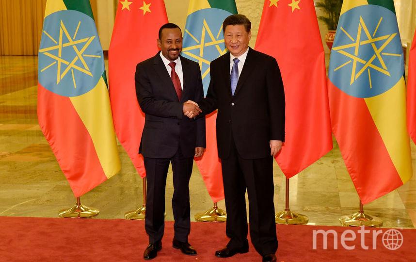 Абий Ахмед и глава КНР. Фото архив, Getty
