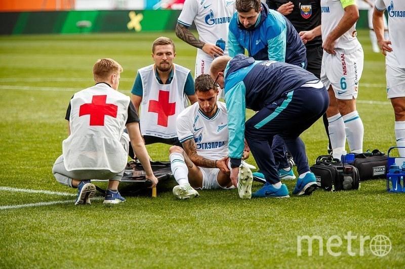 """Защитник """"Зенита"""" Эммануэль Маммана порвал """"кресты"""". Фото Скриншот @emammana_fans"""