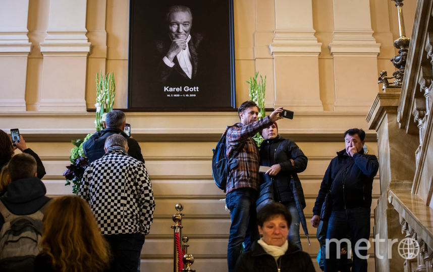 Церемония прощания с Карелом Готтом длилась 5 часов. Фото Getty