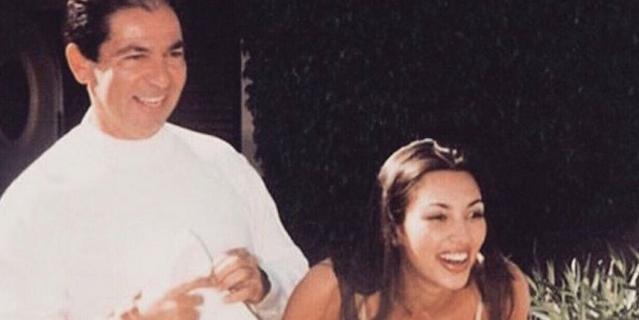 Ким Кардашьян и её отец.