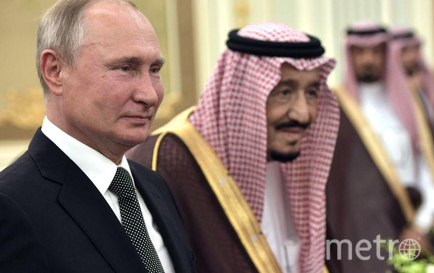 Владимир Путин и король Саудовской Аравии Сальман бен Абдель Азиз Аль Сауд. Фото AFP