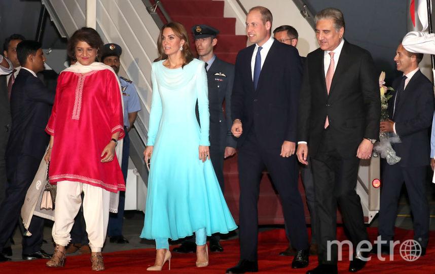 Фото прибытия Кейт и Уильяма в Пакистан. Фото Getty