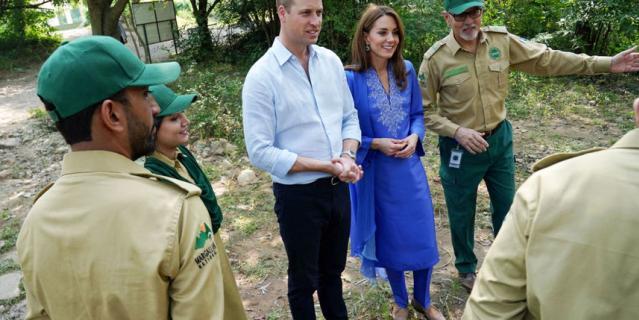 Кейт с супругом на пять дней прилетели в Пакистан.