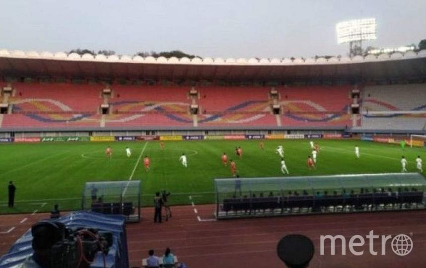 КНДР и Южная Корея сыграли без зрителей. Фото Скриншот @kangin_joa