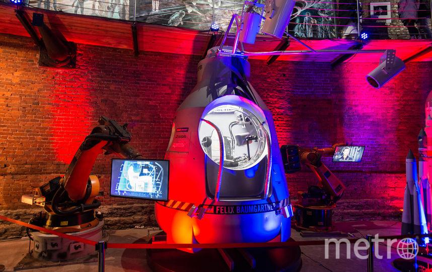 """1357,6 км/ч – такую максимальную скорость развил Баумгартнер в этом скафандре. До этого рекорд свободного падения продержался 50 лет. Фото Святослав Акимов, """"Metro"""""""