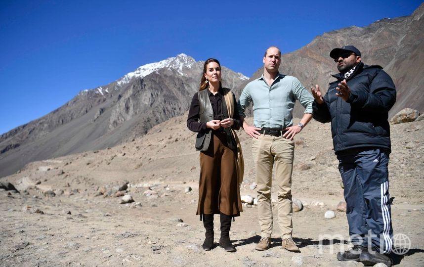 Кейт Миддлтон и принц Уильям на леднике на севере Пакистана. Фото Getty