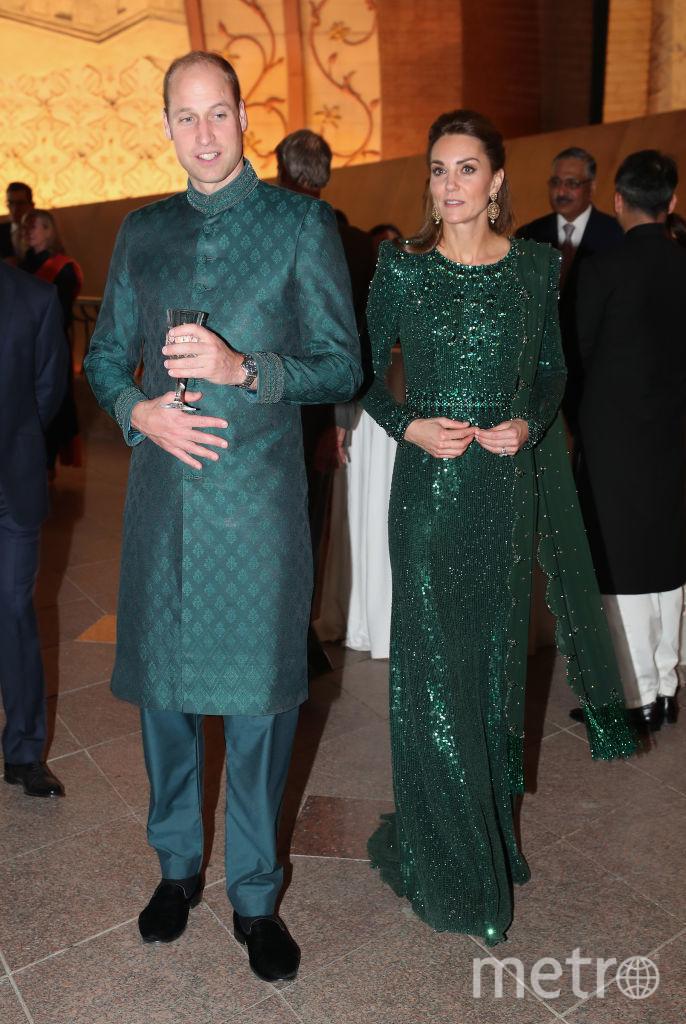 Кейт Миддлтон и принц Уильям на приеме в Исламабаде. Фото Getty
