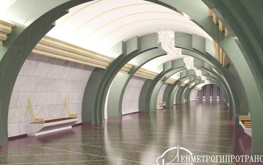 """Станция метро """"Казаковская"""", проект."""
