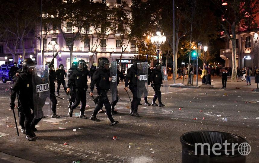 Беспорядки в Барселоне. Фото Getty