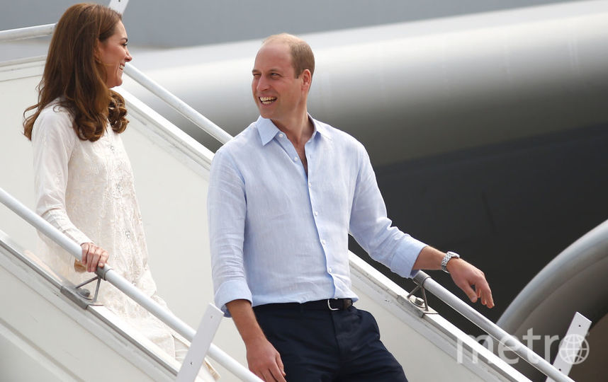 Принц Уильям и Кейт Миддлтон прилетели в Лахор. Фото Getty