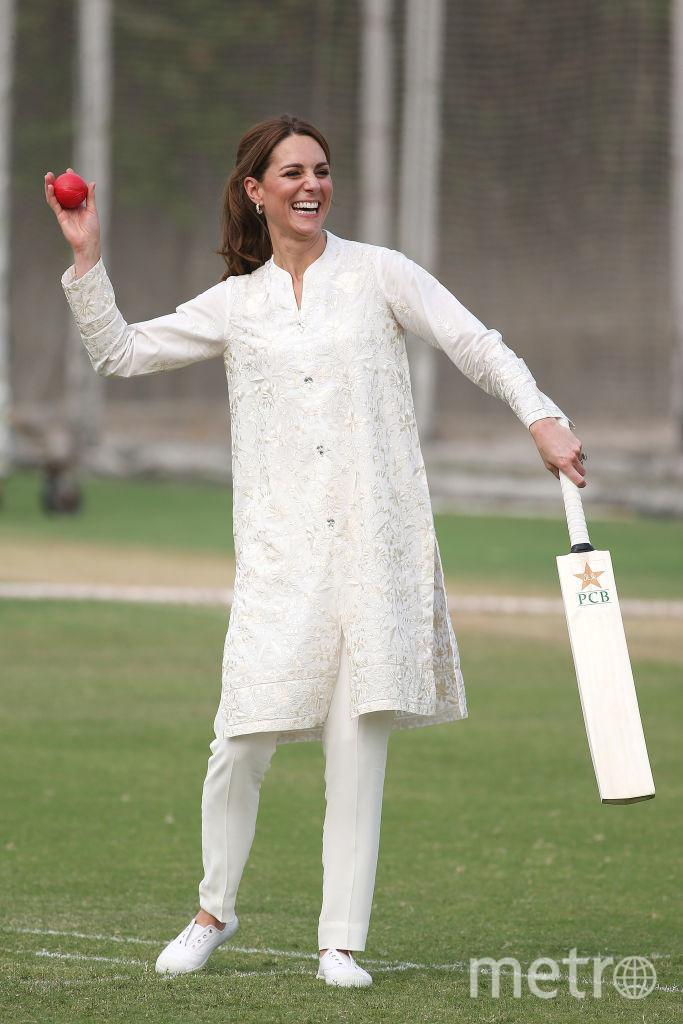 Кейт Миддлтон и принц Уильям на крикете. Фото Getty