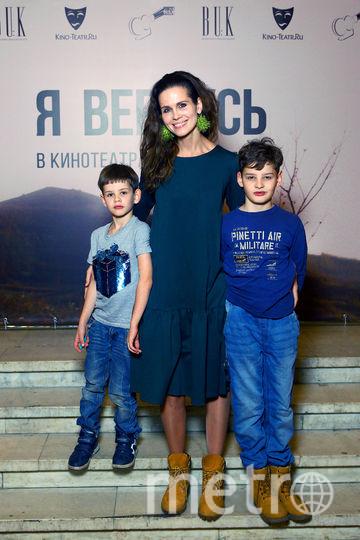 Наталия Лесниковская с детьми. Фото Игорь Харитонов.