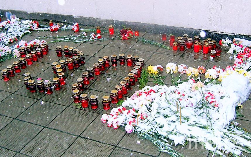 """На одной из акций памяти число погибших выложили свечами. Фото предоставлено Региональной Общественной Организации содействия защите пострадавших от террористическ, """"Metro"""""""