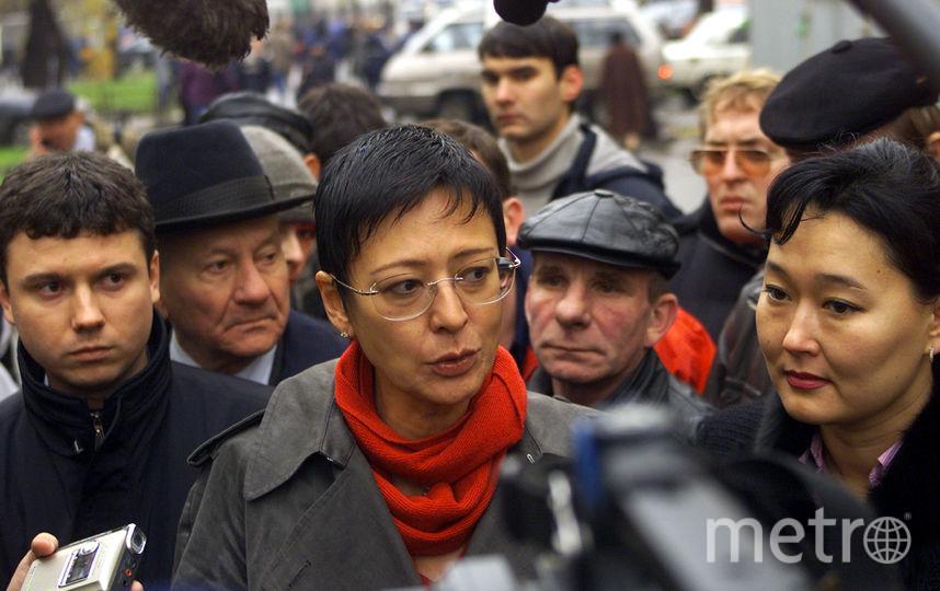 Ирина Хакамада в дни захвата театрального центра. Фото Getty