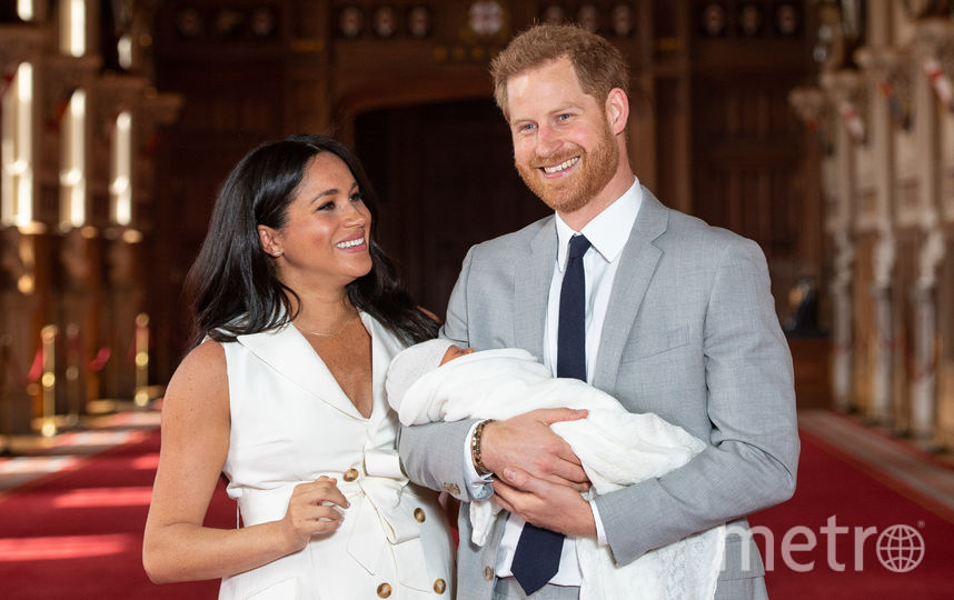 Меган и Гарри с сыном Арчи. Фото Getty