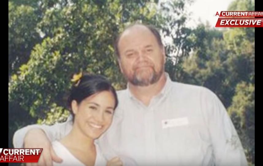 Меган Маркл с отцом. Фото Скриншот Youtube