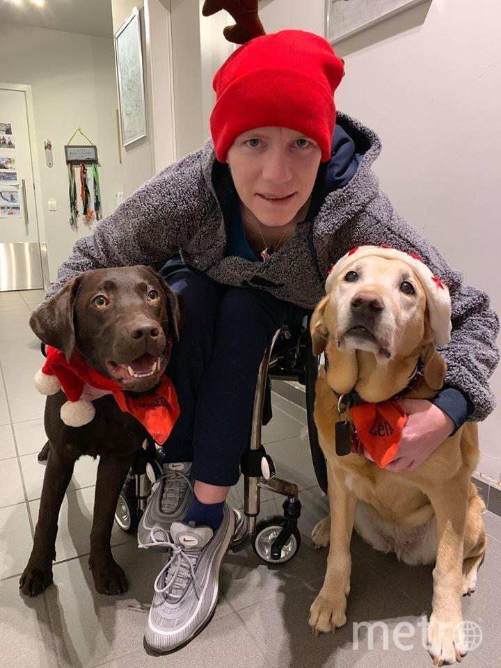 Марике и её собаки, Маззель и Дзенн. Фото Facebook/marieke.vervoort